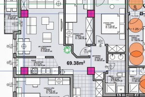 Se prodava nov stan vo Micurin69m2trosoben