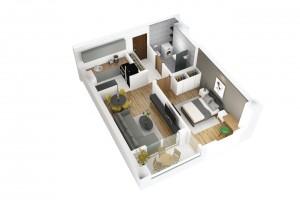 Се продава стан од 45 м2 во финална градба на 1кат во зградата на Порта Аеродром
