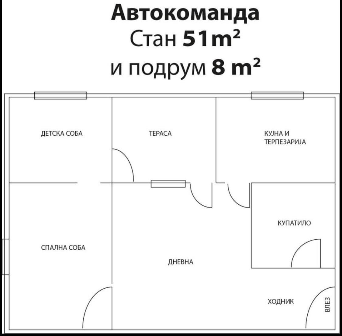 Продавам стан 51м2 во Автокоманда