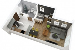 Се продава нов стан 38м2 во Порта Аеродром