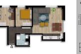 Се продава трособен стан 59м2Кисела Вода